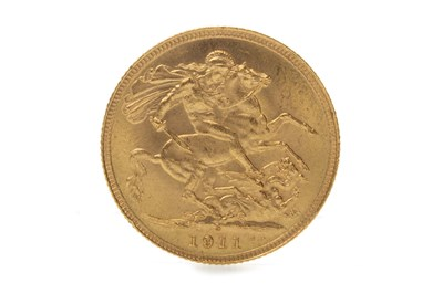 Lot 518-A GOLD SOVEREIGN, 1911
