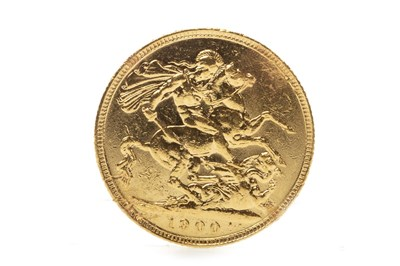Lot 519-A GOLD SOVEREIGN, 1900