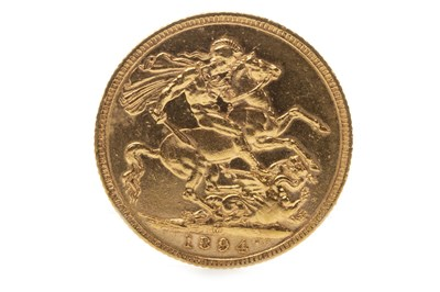 Lot 520-A GOLD SOVEREIGN, 1894