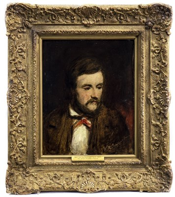 Lot 436-DUNCAN, THE ARTIST'S BROTHER, AN OIL BY WILLIAM MCTAGGART