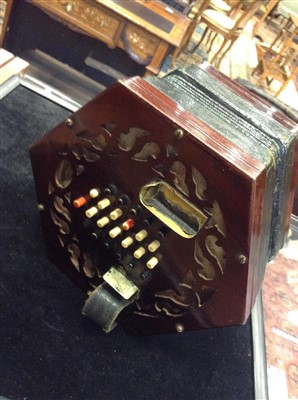 Lot 1408-AN EARLY 20TH CENTURY CONCERTINA BY LACHENAL & CO.