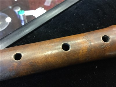 Lot 1409-AN 19TH CENTURY BOXWOOD FLUTE BY C. GEROCK OF LONDON
