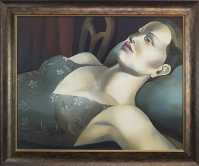 Lot 538-A MOMENT OF REFLECTION, AN OIL BY RACHEL DEACON