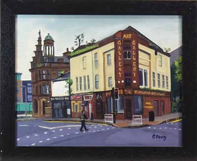 Lot 572-OLD COLLEGE BAR, GLASGOW, AN OIL BY COLIN POVEY
