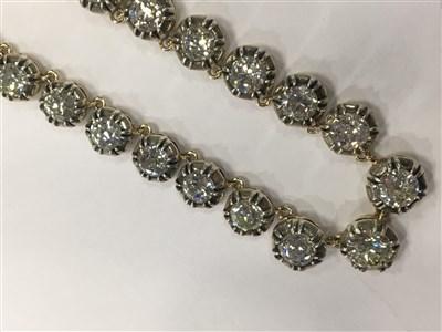 Lot 2-A VERY IMPRESSIVE DIAMOND RIVIERE NECKLET