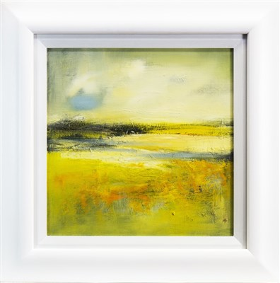 Lot 525-CORN MARIGOLDS, A MIXED MEDIA BY MAY BYRNE