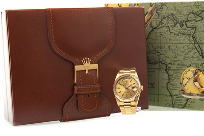 Lot 753-A GENTLEMAN'S ROLEX EIGHTEEN CARAT GOLD WATCH