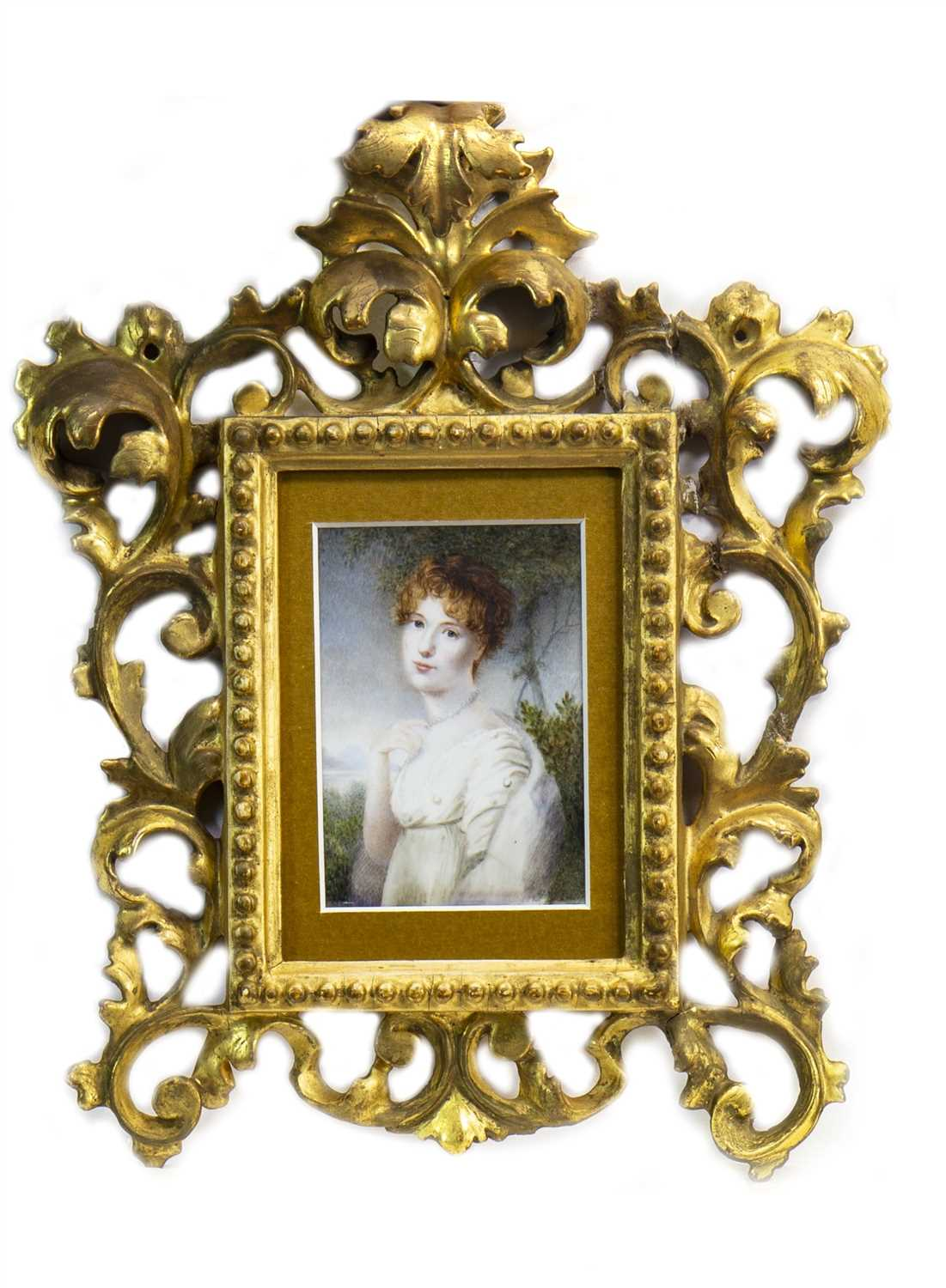 Lot 428-PORTRAIT OF A YOUNG LADY, IN THE STYLE OF FRANCIS COTES