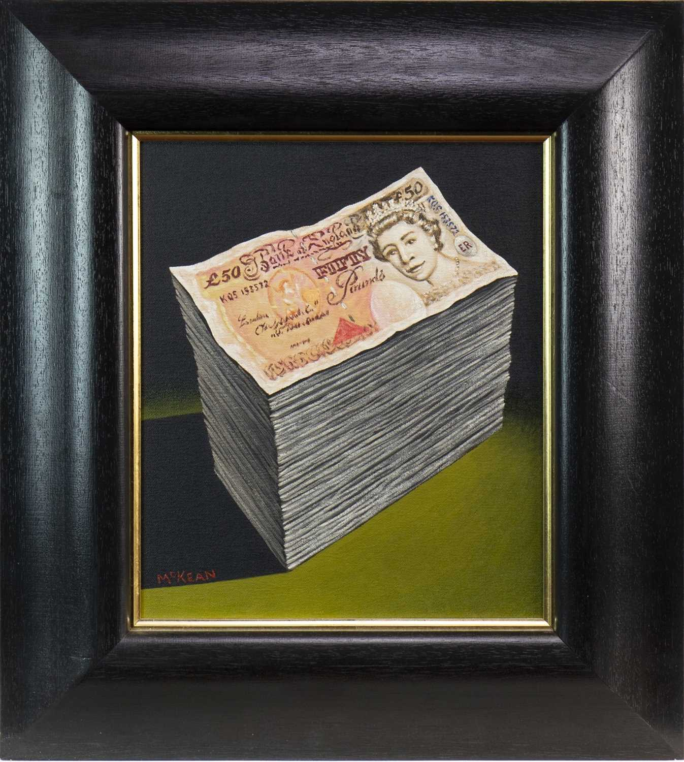 Lot 509-BANK OF ENGLAND, AN OIL BY GRAHAM MCKEAN