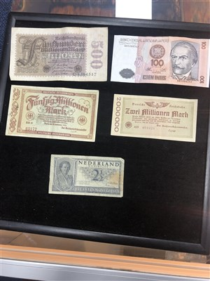 Lot 20-A COLLECTION OF BRITISH AND WORLD BANK NOTES WITH OTHER ITEMS