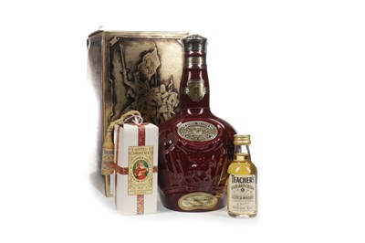 Lot 405-CHIVAS REGAL ROYAL SALUTE 21 YEARS OLD - RUBY FLAGON