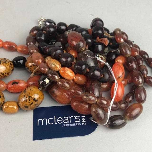 Lot 10-A COLLECTION OF BEAD NECKLACES