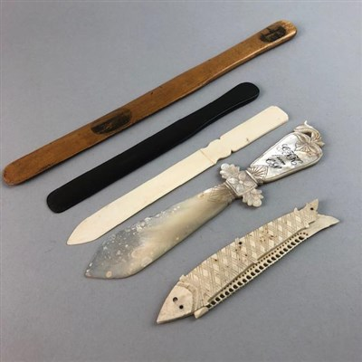 Lot 24-A COLLECTION OF PAGE TURNERS AND LETTER OPENERS