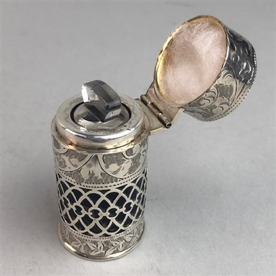 Lot 12-AN EDWARD VII SILVER SCENT BOTTLE