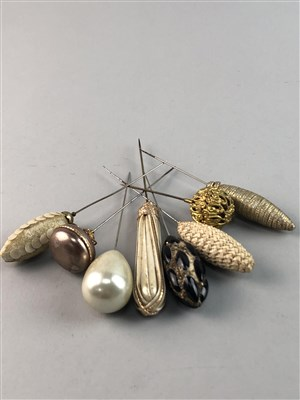 Lot 35-A LOT OF VICTORIAN AND OTHER HAT PINS