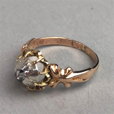 Lot 46-A 19TH CENTURY GOLD DRESS RING