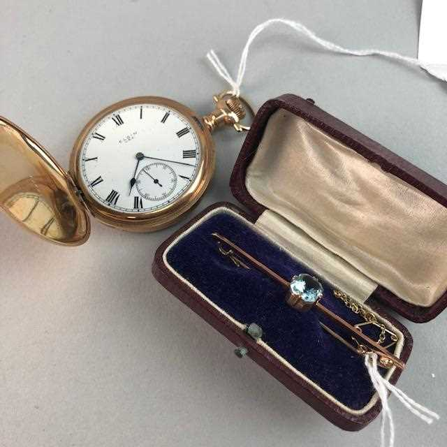 Lot 6-A POCKET WATCH AND A BAR BROOCH