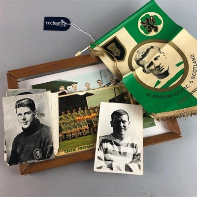 Lot 13-CELTIC F.C. INTEREST - JIMMY JOHNSTONE PENNANT AND OTHER PHOTOGRAPHS