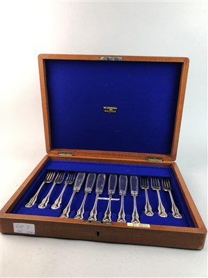Lot 7-A CUTLERY SET AND THREE MINIATURES