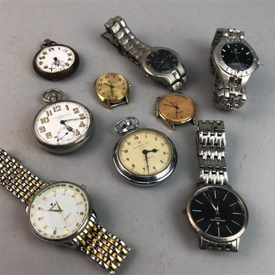 Lot 8-A LOT OF POCKET AND WRIST WATCHES