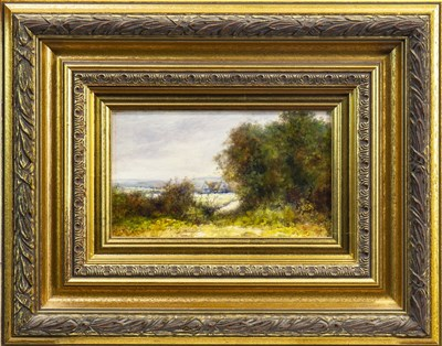 Lot 514-RURAL SCENE WITH COTTAGE, AN OIL BY NORMAN M MACDOUGALL