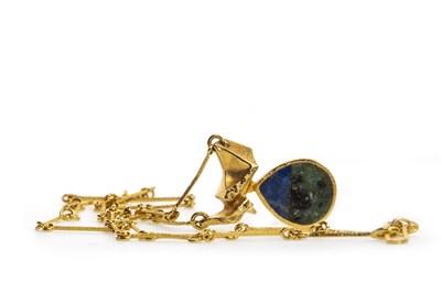 Lot 10-A GOLD LAPPONIA HARDSTONE NECKLACE