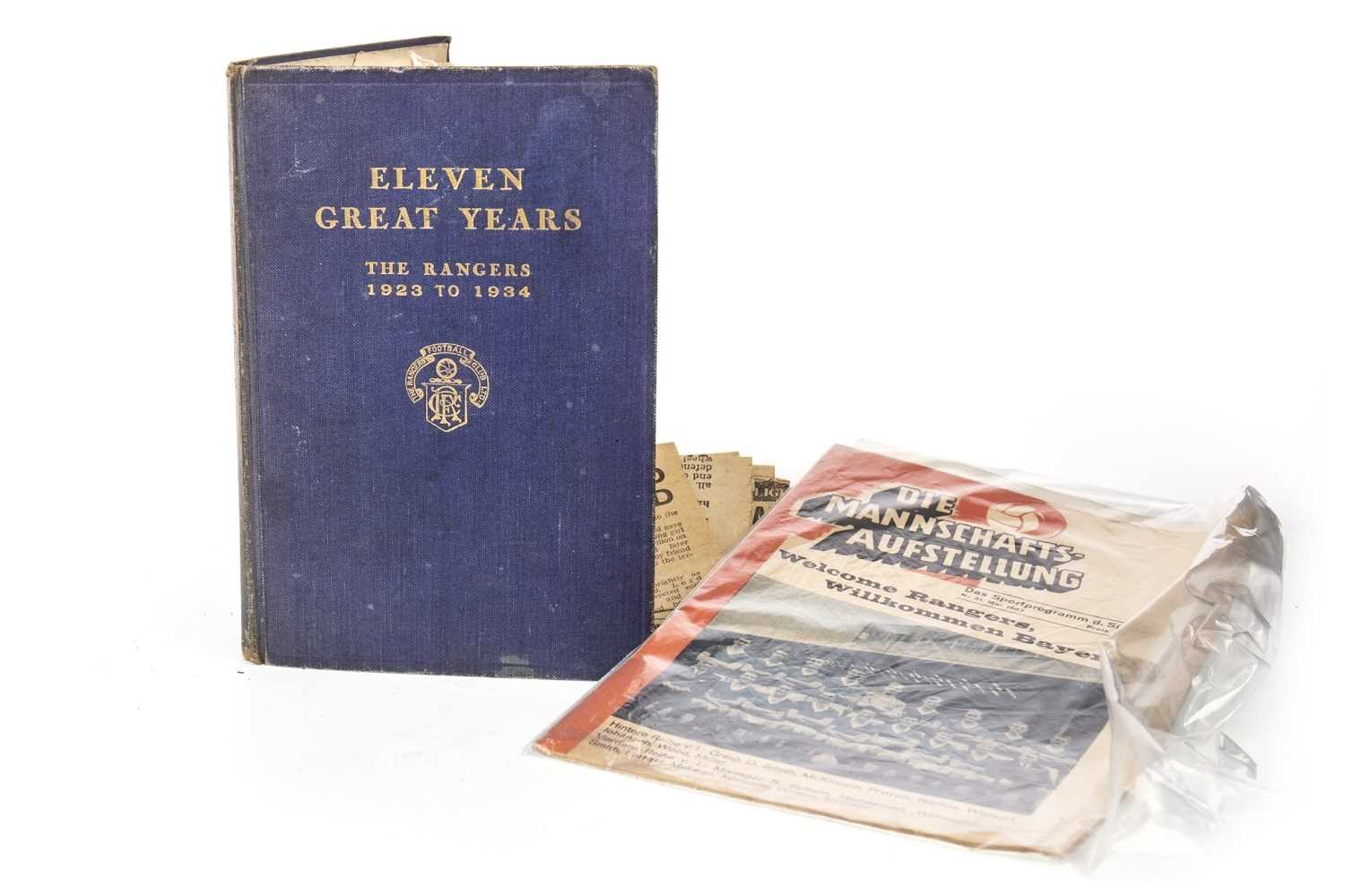 Lot 1814-ELEVEN GREAT YEARS, THE RANGERS 1923 TO 1934, BY JOHN ALLAN
