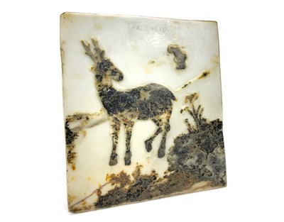 Lot 1012-AN EARLY 20TH CENTURY CHINESE DREAMSTONE TILE