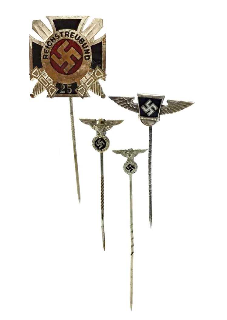 Lot 924-A THIRD REICH STICK PIN FOR 25 YEARS SERVICE ON THE REISHSTREUBUND