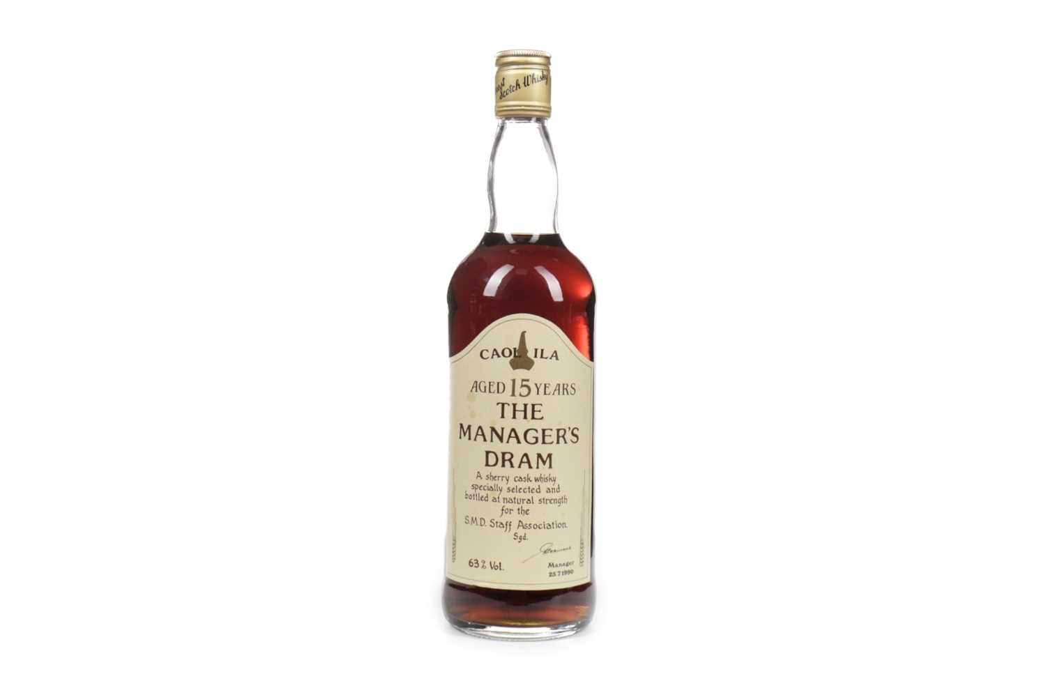 Lot 86-CAOL ILA MANAGERS DRAM AGED 15 YEARS