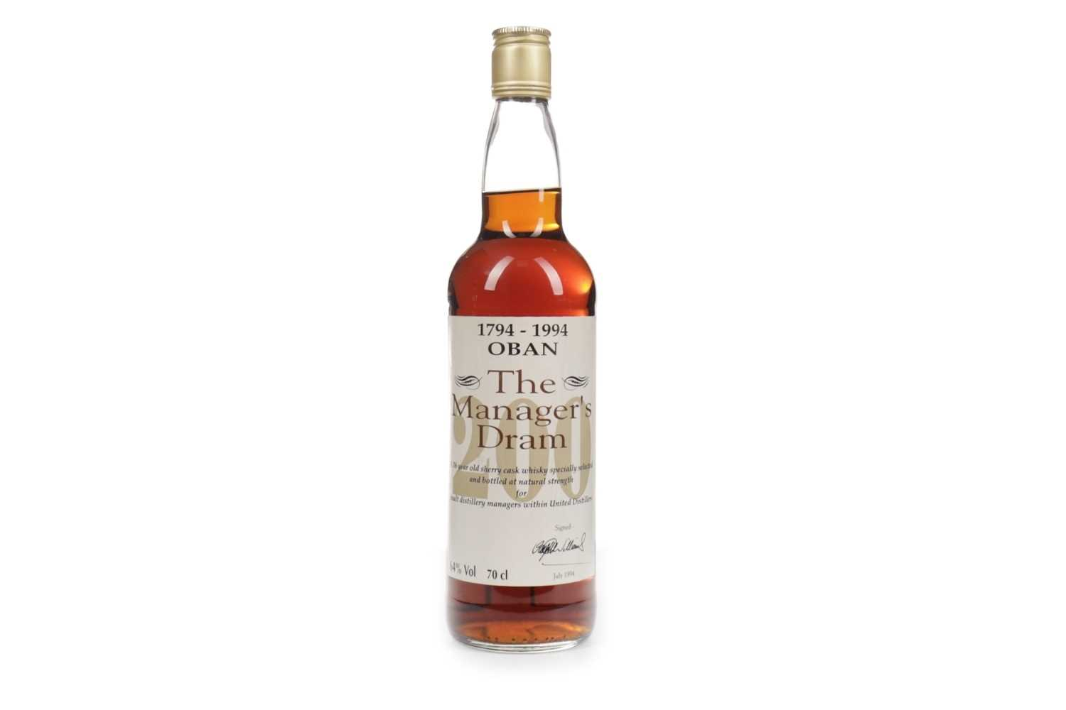 Lot 88-OBAN THE MANAGER'S DRAM 200th ANNIVERSARY AGED 16 YEARS