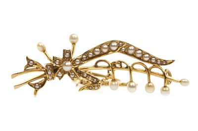 Lot 14-A SEED PEARL SPRAY BROOCH