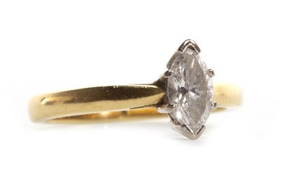 Lot 16-A DIAMOND SOLITAIRE RING