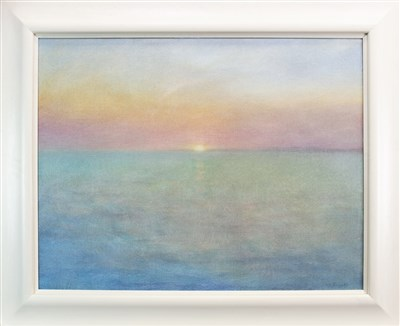 Lot 505-RETURNING FROM COLONSAY, AN OIL BY SUE BIAZOTTI