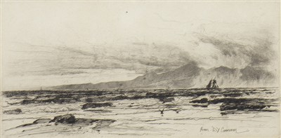 Lot 401-ARRAN, AN ETCHING BY DAVID YOUNG CAMERON