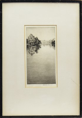 Lot 403-THE BANKS O' AYR, AN ETCHING BY ROBERT HOUSTON