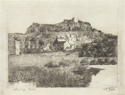 Lot 405-SEVEN ETCHINGS BY A H GEYER