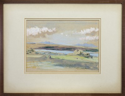 Lot 407-LOCH DOULA, SUTHERLANDSHIRE, A WATERCOLOUR BY JOHN MURRAY THOMPSON