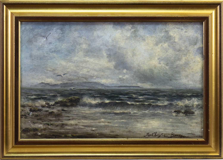Lot 418-SEASCAPE, AN OIL BY JAMES CHRISTIE BRUCE