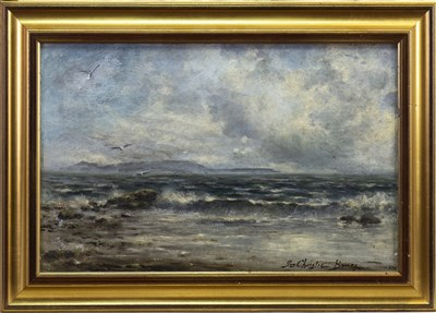 Lot 418-SEASCAPE, AN OIL BY JAMES CHRISTIE BRUCE