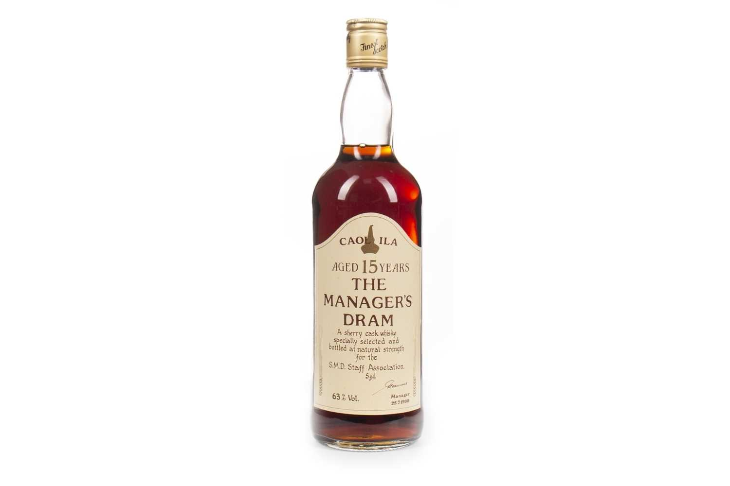 Lot 217-CAOL ILA MANAGERS DRAM AGED 15 YEARS