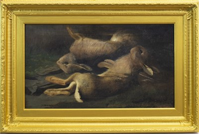 Lot 431-GAME, AN OIL BY JOHN BUCKNELL RUSSELL