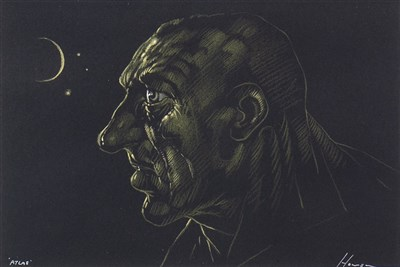 Lot 510-ATLAS, A PASTEL BY PETER HOWSON