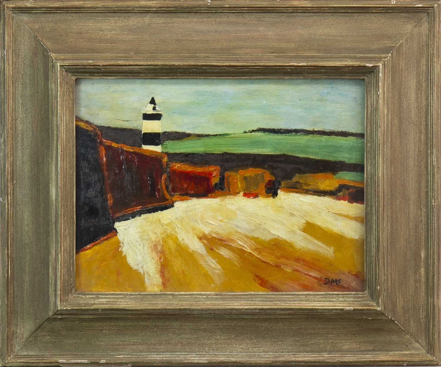 Lot 543-LIGHTHOUSE, AN OIL BY DONALD MCINTYRE