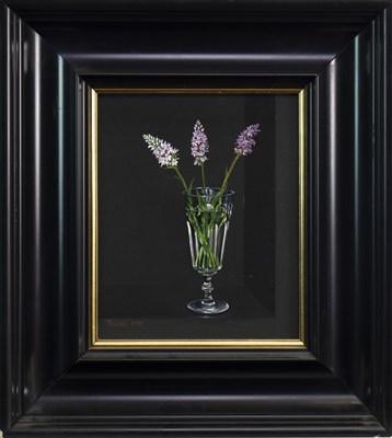 Lot 567-FLOWERS IN A VASE, AN OIL BY TOBIAS HARRISON