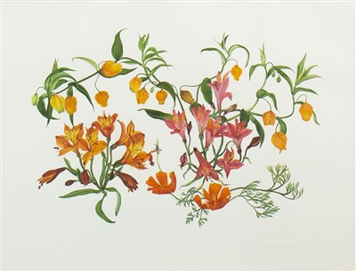 Lot 568-HOT SUMMER, A WATERCOLOUR BY ELSPETH HARRIGAN
