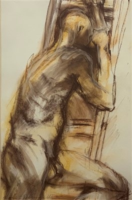 Lot 576-NUDE STUDY II, A PASTEL BY BERNIE O'DONNELL
