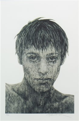 Lot 578-PORTRAIT II, A SIGNED LIMITED EDITION PRINT BY GRAHAM FLACK