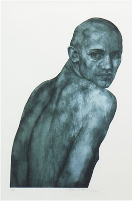 Lot 574-PORTRAIT, A SIGNED LIMITED EDITION PRINT BY GRAHAM FLACK