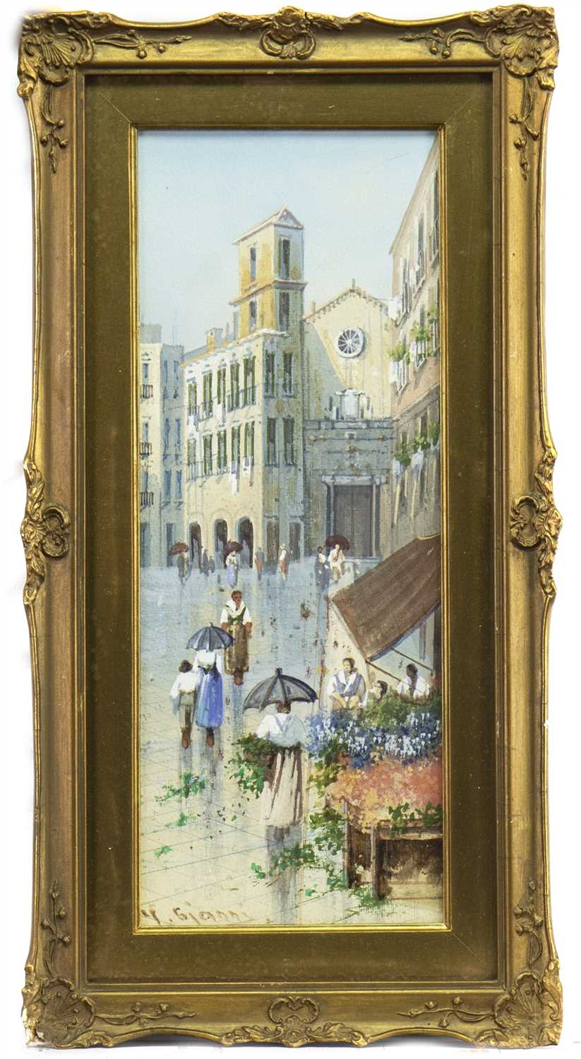 Lot 422-CONTINENTAL STREET SCENE, A WATERCOLOUR BY GIANNI